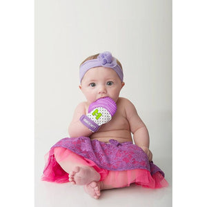 Malarkey Kids - Baby teething mitten - Purple shimmer