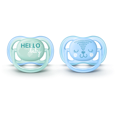 Avent - Ultra Air 0-6m 2 pack hello baby