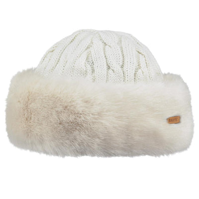 Barts fur cable bandhat wit - Damplein 9 SKI & Fashion