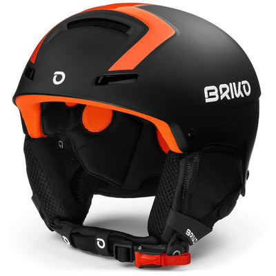 Briko Faito Fluid Inside matt black/orange Skihelm - Damplein 9 SKI & Fashion