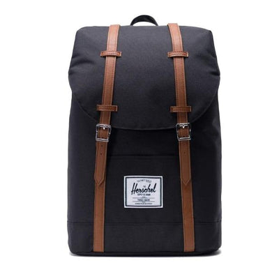 Herschel Retreat 19.5L rugtas zwart/tan - Damplein 9 SKI & Fashion