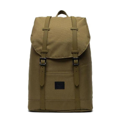 Herschel Retreat mid-volume rugtas khaki green - Damplein 9 SKI & Fashion