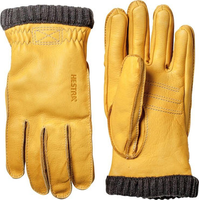 Hestra Deerskin Primaloft Rib - Natural yellow - Damplein 9 SKI & Fashion