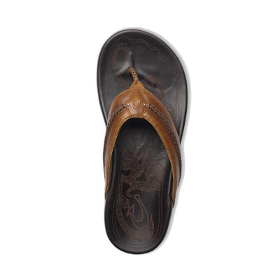 Olukai Mea Ola heren slippers tan/dark java - Damplein 9 SKI & Fashion
