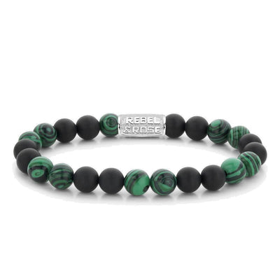 Rebel & Rose armband - Matt Malachite Twist 8mm - Damplein 9 SKI & Fashion