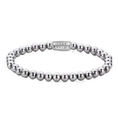 Rebel & Rose armband - Silver Shine 6mm - Damplein 9 SKI & Fashion