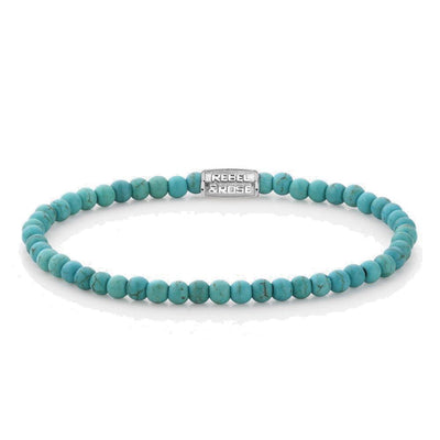 Rebel & Rose armband - Turquoise Delight 4mm - Damplein 9 SKI & Fashion