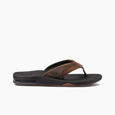 Reef Leather Fanning Bronze heren slippers - Damplein 9 SKI & Fashion