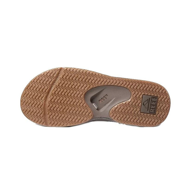 Reef Leather Fanning heren slippers bruin/wit - Damplein 9 SKI & Fashion