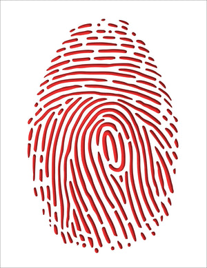 Relief Wall Graphic: Thumbprint