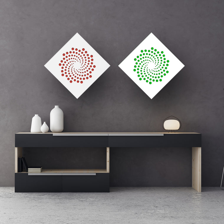 3d Wall Squares: Spiral Dots
