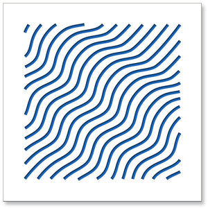 3d Wall Squares: Waves