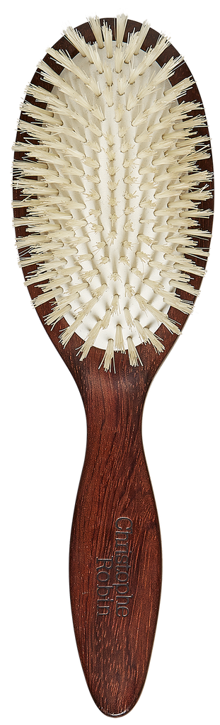 Detangling hairbrush  100% natural boar-bristle & wood