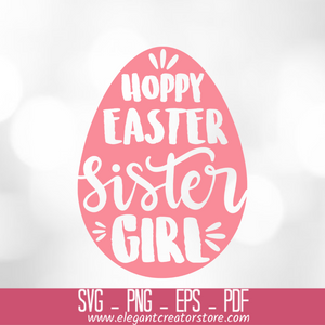 HOPPY EASTER SISTER GIRL SVG