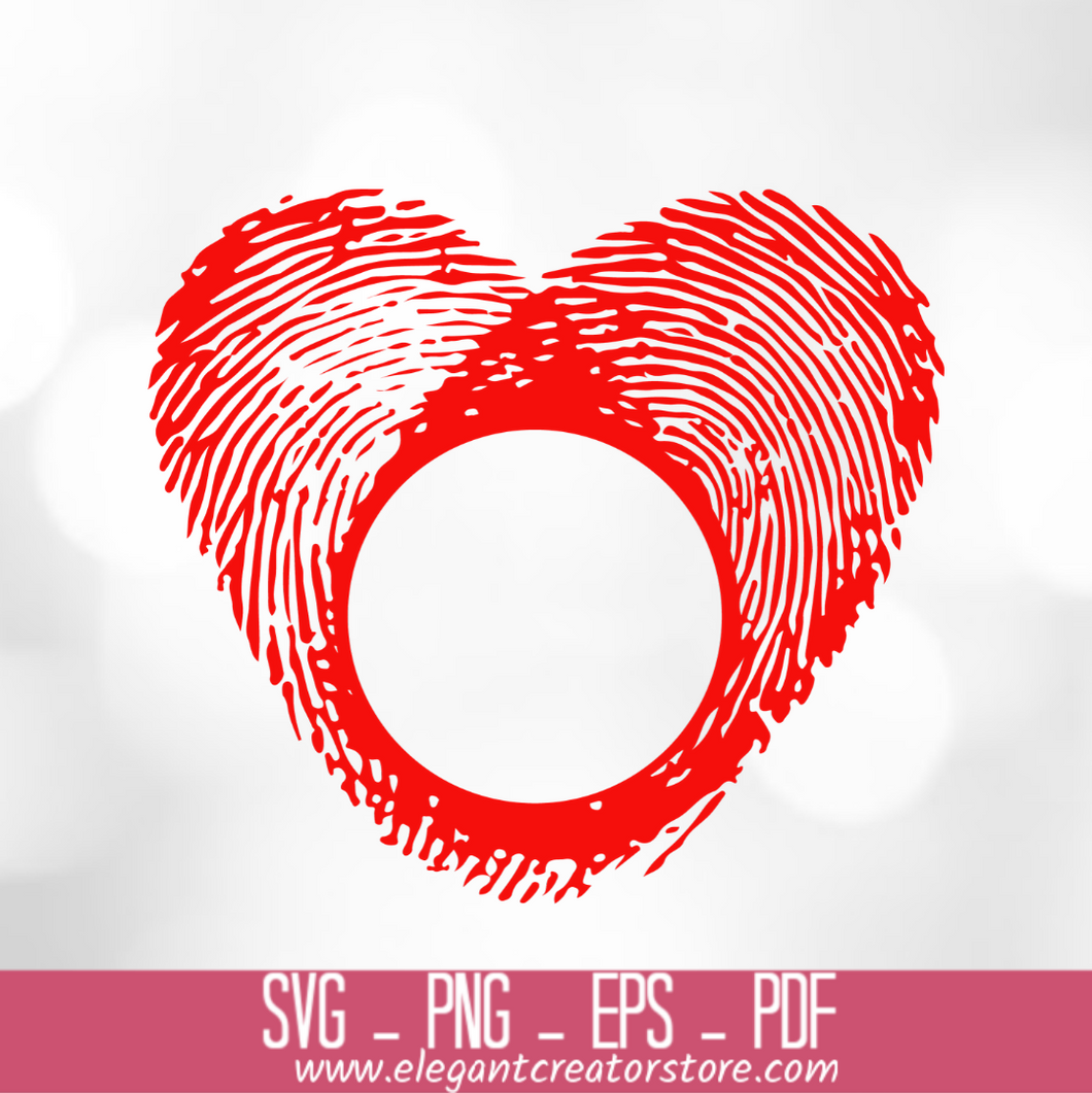 fingerprint monogram SVG