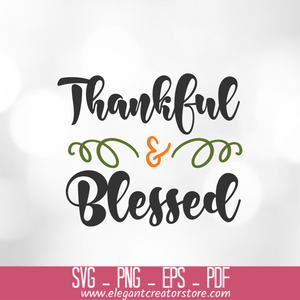 thankful and blessed 2 SVG