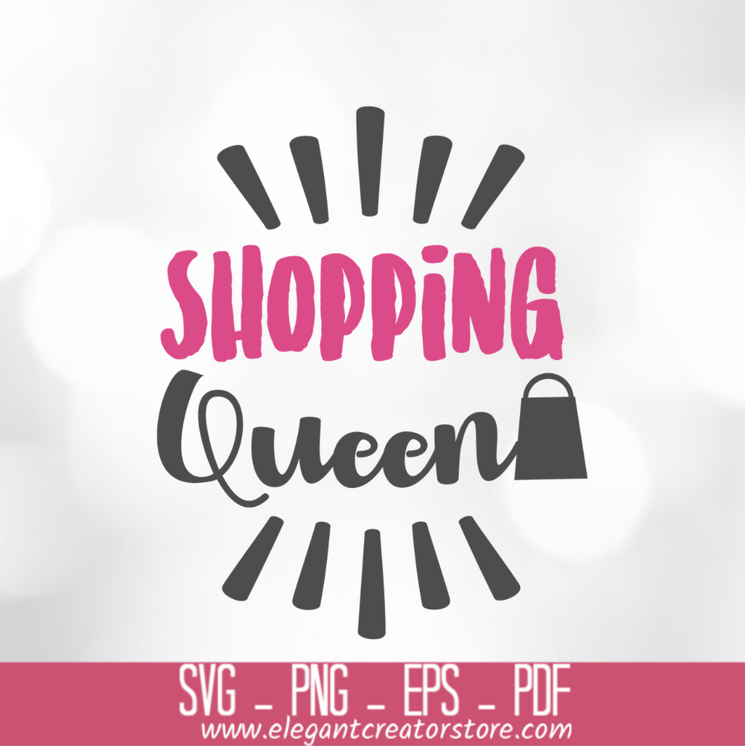Shopping queen 3 SVG