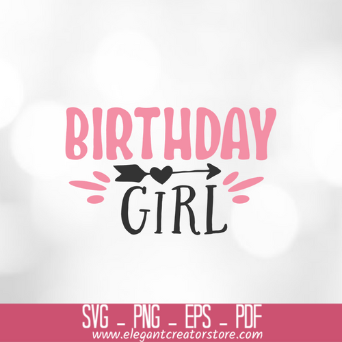 Birthday girl 4 SVG