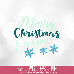 merry christmas everyone SVG