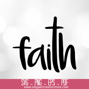 Faith cross SVG