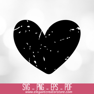 Heart distressed SVG