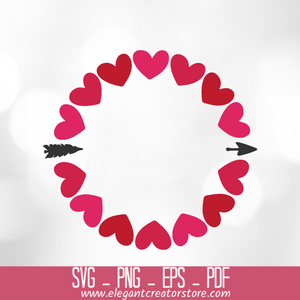 Heart Monogram SVG Cut File for Cricut, Silhouette SVG