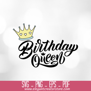 birthday queen SVG