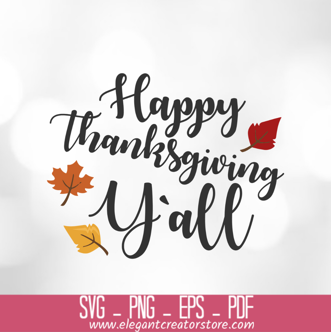 happy thanksgiving y all SVG