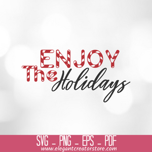 enjoy holidays SVG