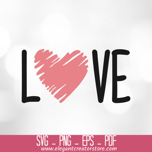 Love Sketch Heart Drawing 2 SVG
