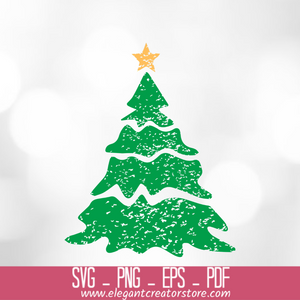 grunge christmas trees SVG