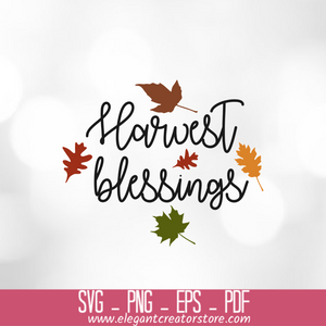 harvest blessings SVG