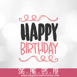 Happy Birthday 3 SVG