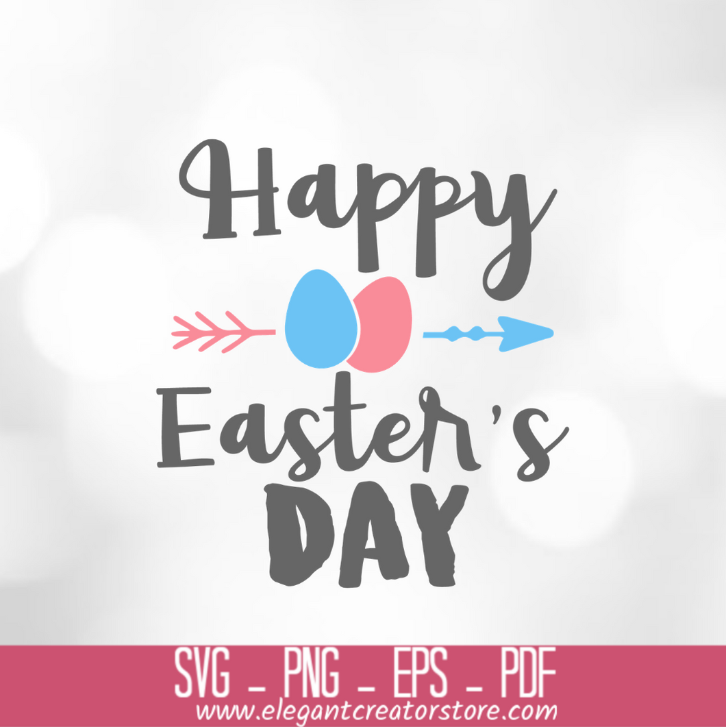 HAPPY EASTERS DAY ARROW SVG