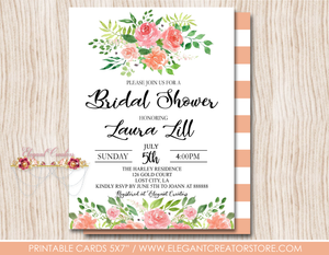 photo about Printable Bridal Shower Invitations called Printable Bridal Shower Invitation The Blush