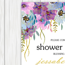 Load image into Gallery viewer, Printable Bridal Shower Invitation The Purple Joy