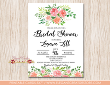 Load image into Gallery viewer, Printable Bridal Shower Invitation The Blush