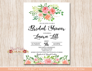 Printable Bridal Shower Invitation The Blush