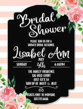 Load image into Gallery viewer, Printable Bridal Shower Invitation The Rose