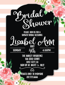 Printable Bridal Shower Invitation The Rose