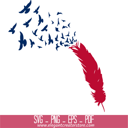 4th of July Blowing Bird SVG