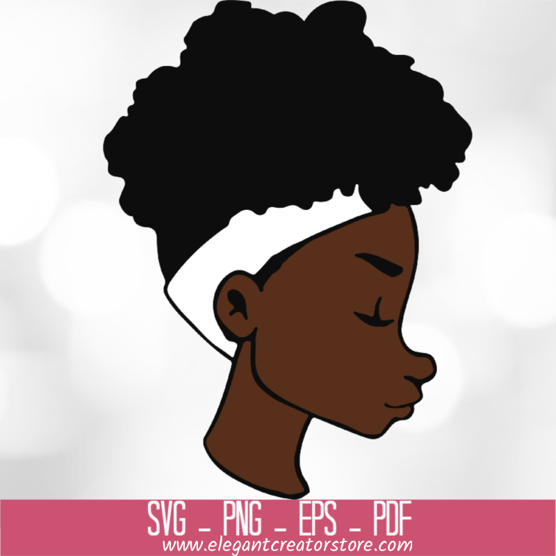 BLACK WOMAN AFRO SVG