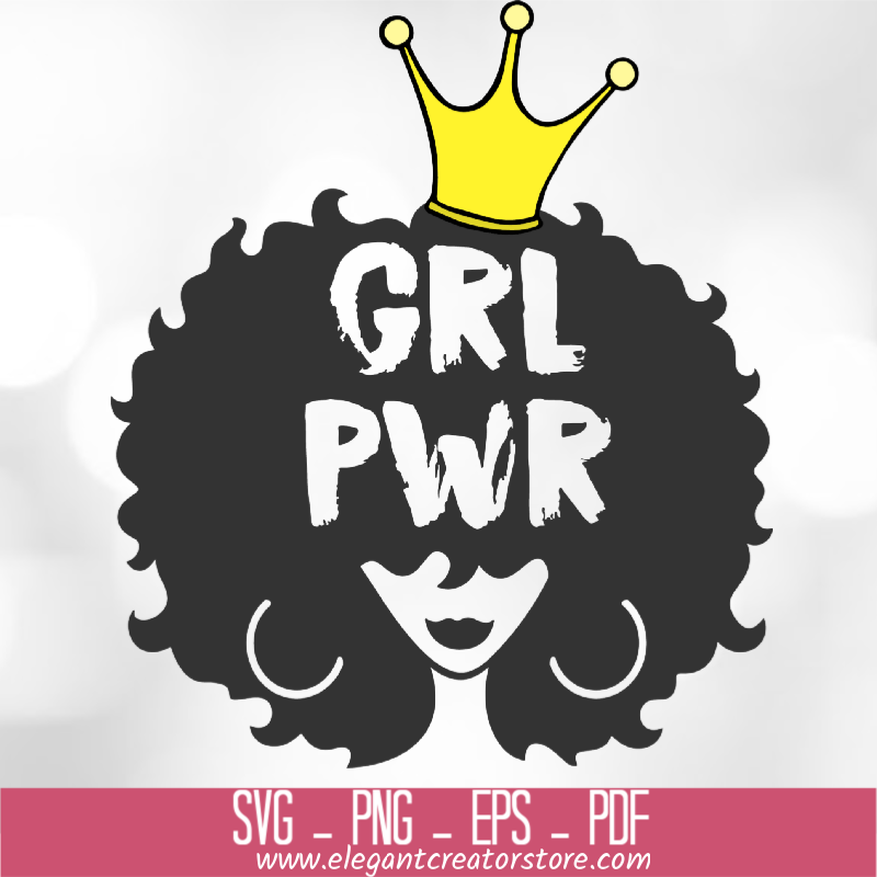 Girl Power With Crown SVG