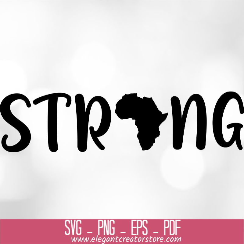 Strong Africa SVG