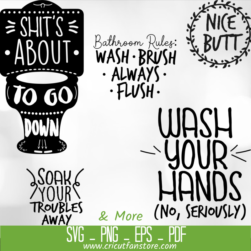 Bathroom  Bundle SVG 100+ Files Special 95% OFF