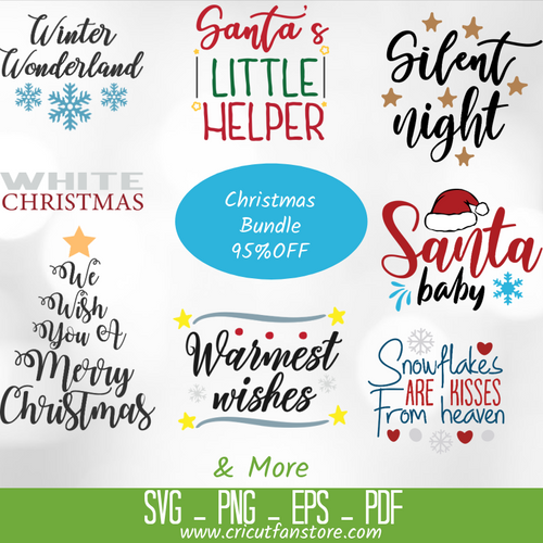 Christmas  Bundle SVG 500+ Files Special 97% OFF