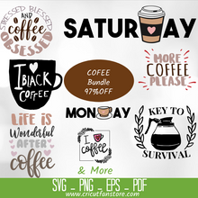 Load image into Gallery viewer, Coffee Bundle SVG Special 97% OFF