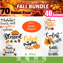 Load image into Gallery viewer, Fall  Bundle SVG 200+ Files Special 85% OFF