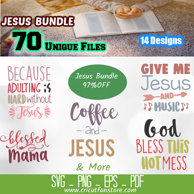 A Jesus  Bundle, 70+ SVG Files 97% OFF
