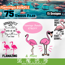 Load image into Gallery viewer, Flamingo Bundle, 75+ SVG Files 85% OFF